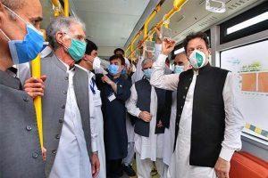 وزیراعظم عمران خان نے پشاور بی آر ٹی منصوبے کا افتتاح کردیا
