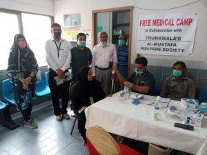 المصطفیٰ ویلفیئر سوسائٹی کے تحت کورنگی میں مفت طبی کیمپ کاانعقاد